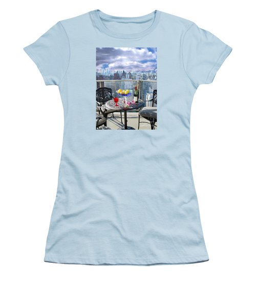 View From The Terrace Women's T-Shirt (Junior Cut) by Madeline Ellis