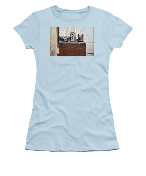 Vintage Cameras At Warehouse 54 Women's T-Shirt (Athletic Fit)