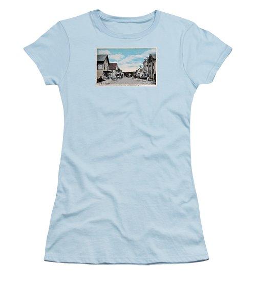 Vintage Postcard Of Wolfeboro New Hampshire Art Prints Women's T-Shirt (Junior Cut) by Valerie Garner