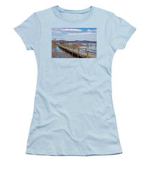 Vransko Lake Nature Park Bird Observatory Women's T-Shirt (Athletic Fit)