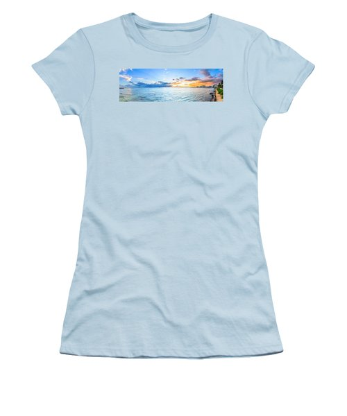 Waikiki Sunset After An Afternoon Thunderstorm Women's T-Shirt (Athletic Fit)