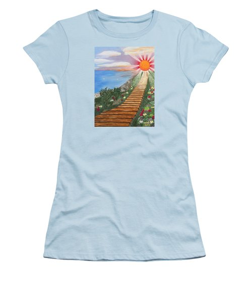 Waking Up Love Women's T-Shirt (Junior Cut) by Cheryl Bailey