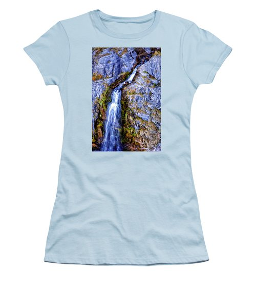 Waterfall-mt Timpanogos Women's T-Shirt (Athletic Fit)
