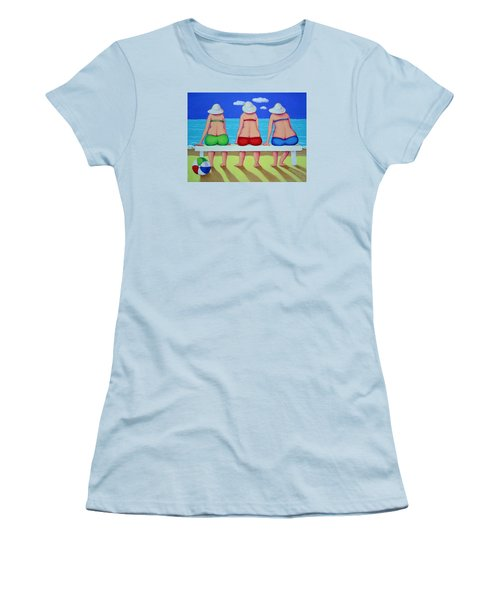 Wave Watch - Beach Women's T-Shirt (Junior Cut) by Rebecca Korpita