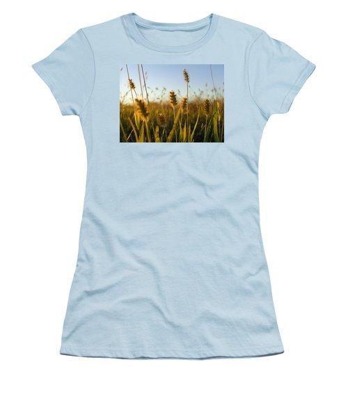 Women's T-Shirt (Junior Cut) featuring the photograph Weeds by Joseph Skompski