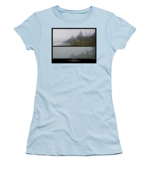 Women's T-Shirt (Junior Cut) featuring the photograph We'll Keep The Light On For You by Marty Saccone