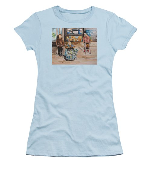 We're Still Here Women's T-Shirt (Junior Cut) by Esther Newman-Cohen