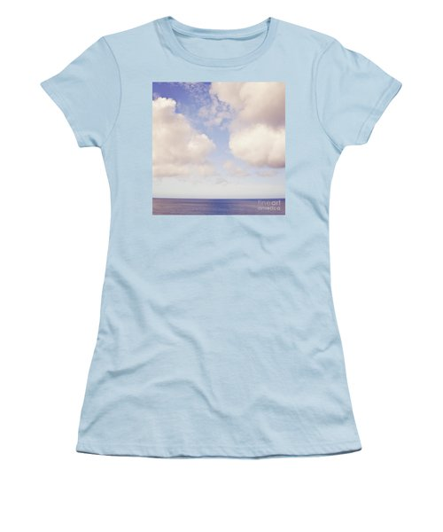 When Clouds Meet The Sea Women's T-Shirt (Athletic Fit)