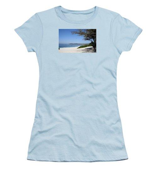 White Beach At Carmel Women's T-Shirt (Junior Cut) by Christiane Schulze Art And Photography