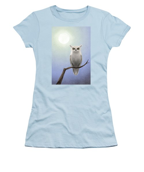 White Owl Women's T-Shirt (Athletic Fit)