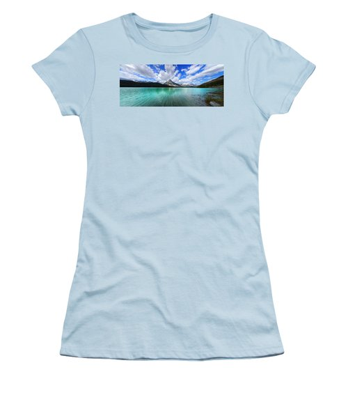 Women's T-Shirt (Junior Cut) featuring the photograph White Pyramid by David Andersen