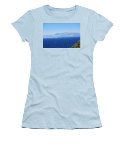 Women's T-Shirt (Junior Cut) featuring the photograph White Trail by George Katechis