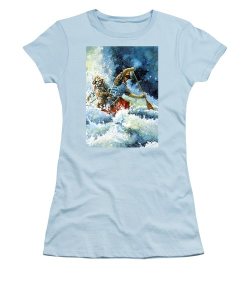 Women's T-Shirt (Athletic Fit) featuring the painting White Water by Hanne Lore Koehler