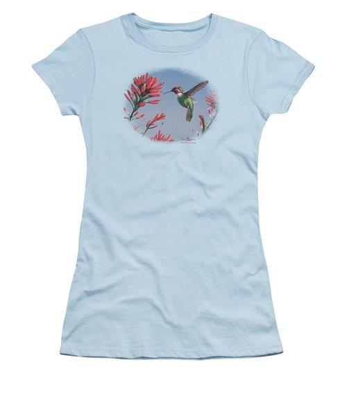 Wildlife - Annas Hummingbird Women's T-Shirt (Athletic Fit)