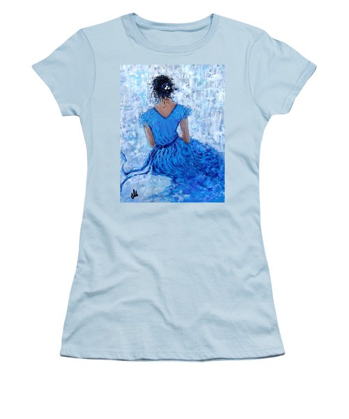 Women's T-Shirt (Junior Cut) featuring the painting Wind Of Hope.. by Cristina Mihailescu