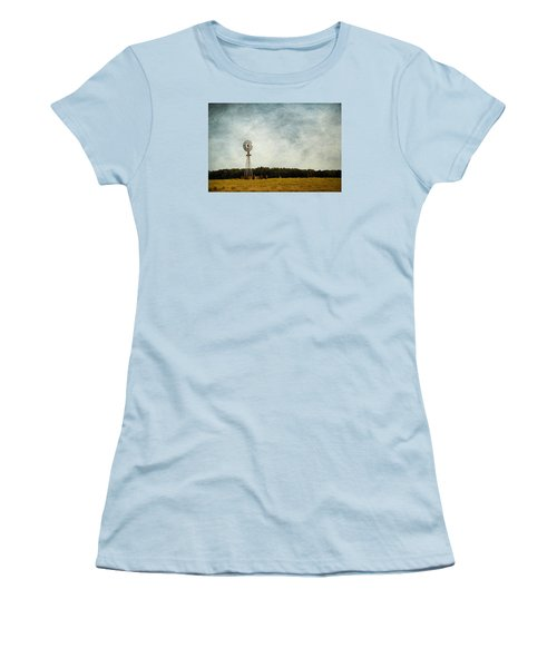 Windmill On The Farm Women's T-Shirt (Junior Cut) by Beverly Stapleton