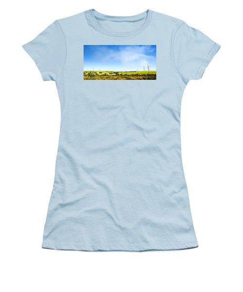 Women's T-Shirt (Junior Cut) featuring the photograph Windmill by Yew Kwang