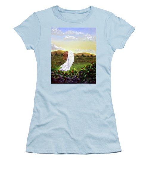 Windswept Angel Women's T-Shirt (Athletic Fit)