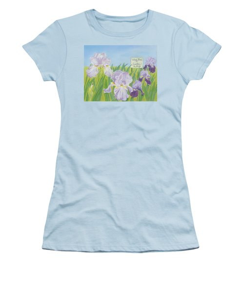 Women's T-Shirt (Junior Cut) featuring the painting Windy Brae Gardens by Arlene Crafton