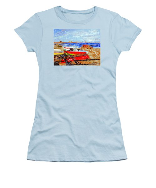 Winter At Provincetown Women's T-Shirt (Athletic Fit)