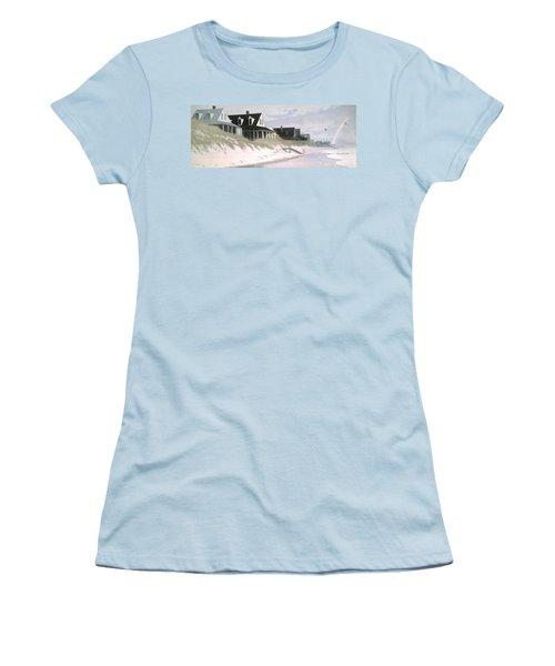 Winter Beach Women's T-Shirt (Junior Cut) by Blue Sky