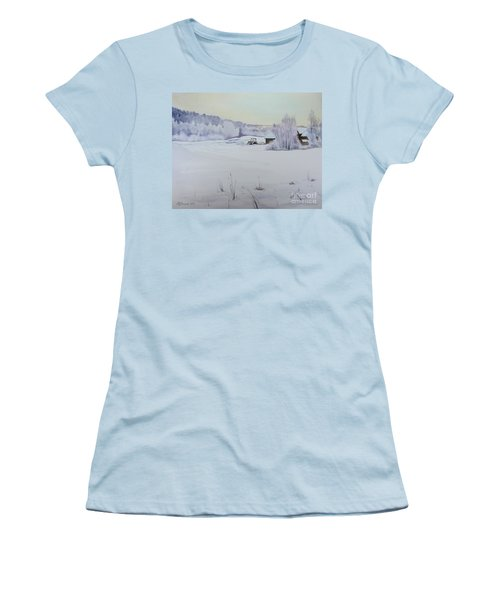 Winter Blanket Women's T-Shirt (Athletic Fit)