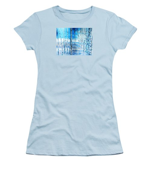 Winter Blues Women's T-Shirt (Junior Cut) by Patti Gordon