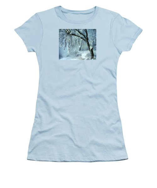 Women's T-Shirt (Junior Cut) featuring the painting Winter Dreams by Dragica  Micki Fortuna