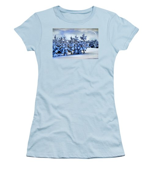 Winter Serenity  Women's T-Shirt (Athletic Fit)