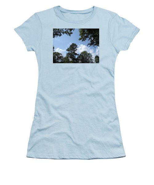 Wooded Forest  Women's T-Shirt (Junior Cut) by Joseph Baril