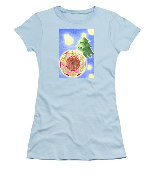 Women's T-Shirt (Junior Cut) featuring the drawing X'mas Ornament by Keiko Katsuta