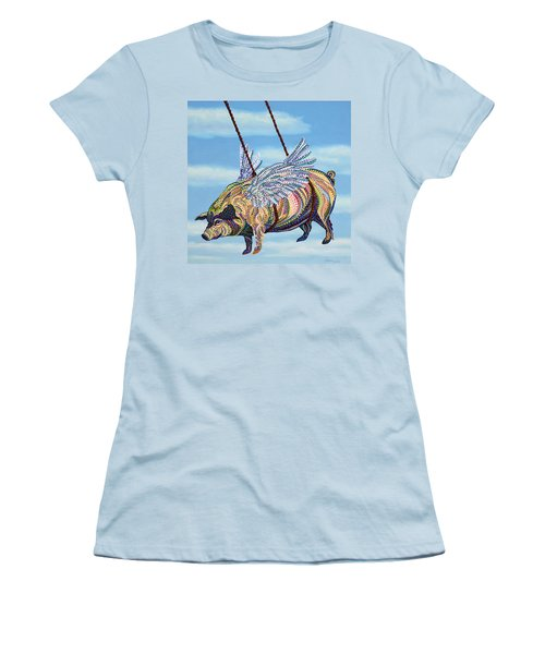 Yankee Ingenuity Women's T-Shirt (Junior Cut) by Erika Pochybova