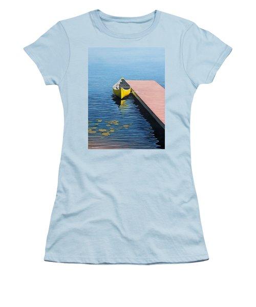 Yellow Canoe Women's T-Shirt (Junior Cut) by Kenneth M  Kirsch
