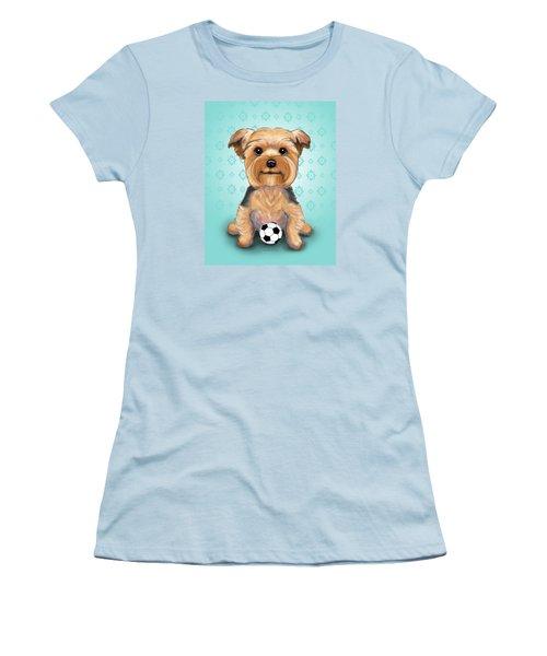 Yorkie  Baxter Hemenway Women's T-Shirt (Junior Cut) by Catia Cho
