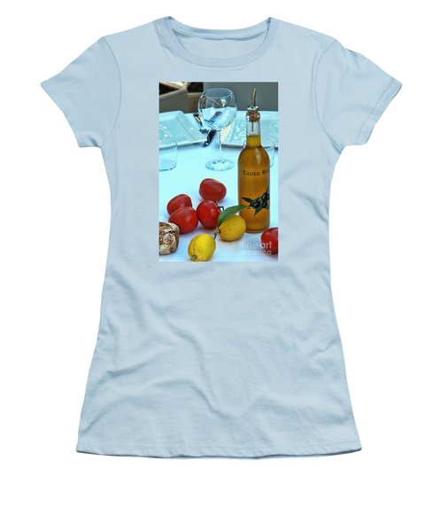 Women's T-Shirt (Junior Cut) featuring the photograph Your Table Is Ready by Allen Beatty