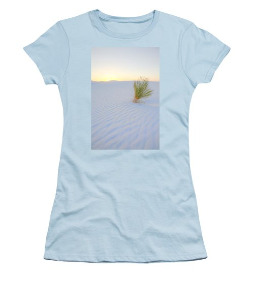 Women's T-Shirt (Junior Cut) featuring the photograph Yucca Plant At White Sands by Alan Vance Ley