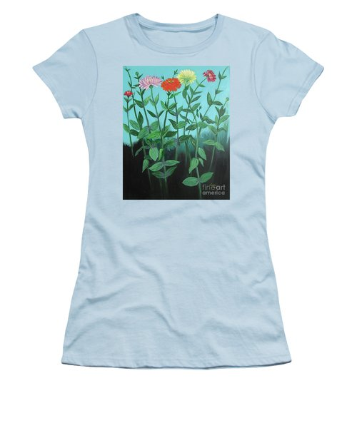 Zinnia Parade Women's T-Shirt (Athletic Fit)