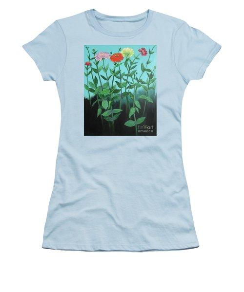 Zinnia Parade Women's T-Shirt (Athletic Fit)