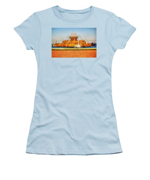 Buckingham Fountain Women's T-Shirt (Junior Cut) by Dan Stone