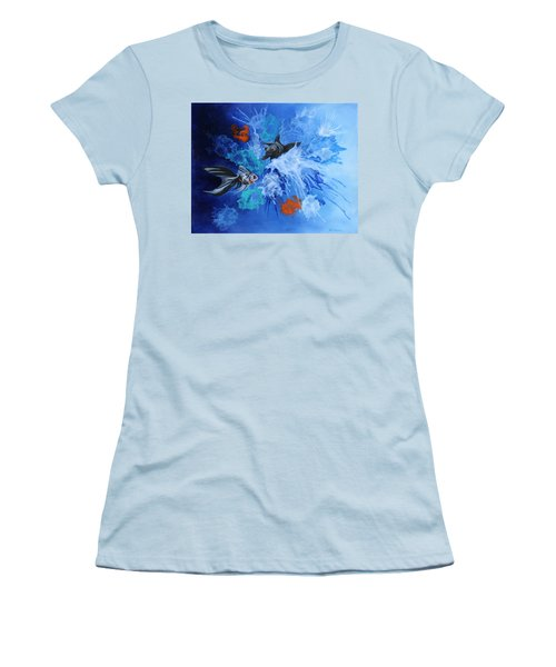 Richies Fish Women's T-Shirt (Junior Cut) by Wendy Shoults