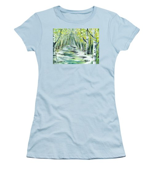 Women's T-Shirt (Junior Cut) featuring the painting Spring by Shana Rowe Jackson