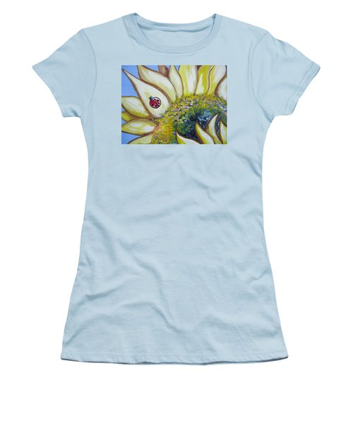Sunflower And Ladybug Women's T-Shirt (Athletic Fit)