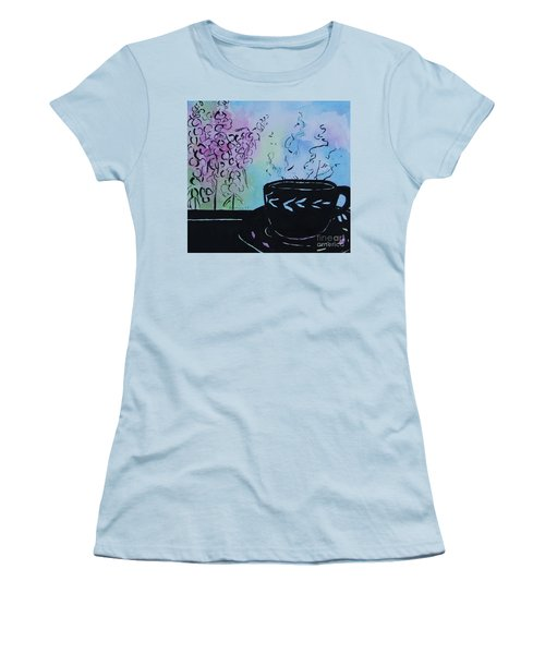 Tea And Snap Dragons Women's T-Shirt (Junior Cut) by Jan Bennicoff