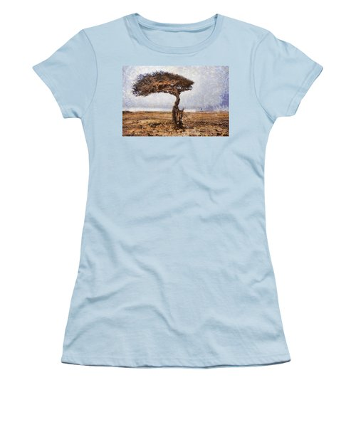 The Lonely Tree Women's T-Shirt (Athletic Fit)