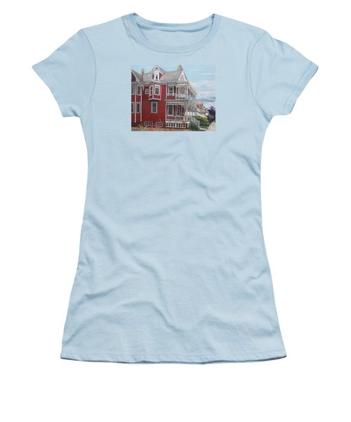 Victorian Afternoon Cape May Women's T-Shirt (Junior Cut) by Barbara Barber