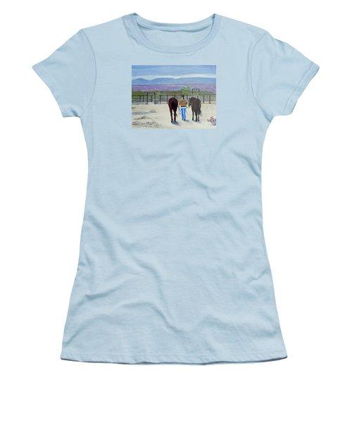 Texas - A Good Ride Women's T-Shirt (Junior Cut) by Christine Lathrop