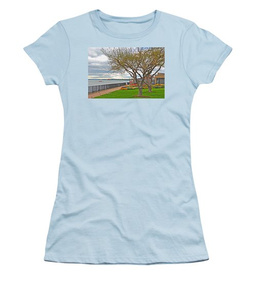 Women's T-Shirt (Junior Cut) featuring the photograph A View From The Garden by Michael Frank Jr