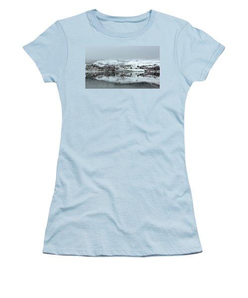 Women's T-Shirt (Junior Cut) featuring the photograph A Winter's Scene by Lynn Bolt
