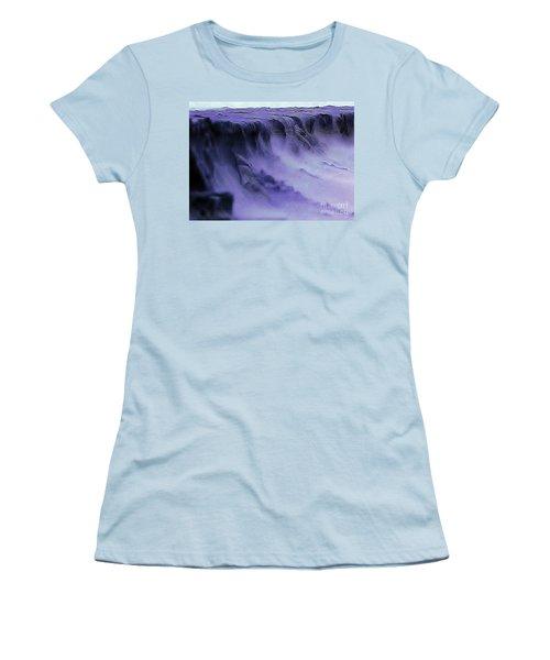 Women's T-Shirt (Junior Cut) featuring the photograph Alien Landscape The Aftermath by Blair Stuart