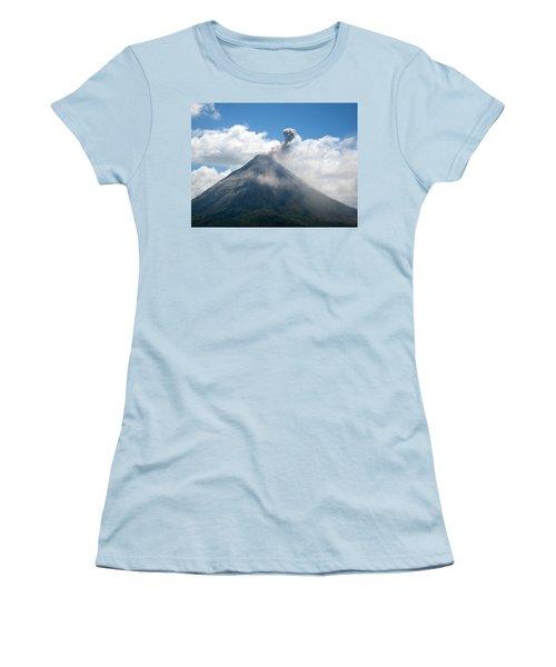 Women's T-Shirt (Junior Cut) featuring the photograph Arenal Eruption by Eric Tressler